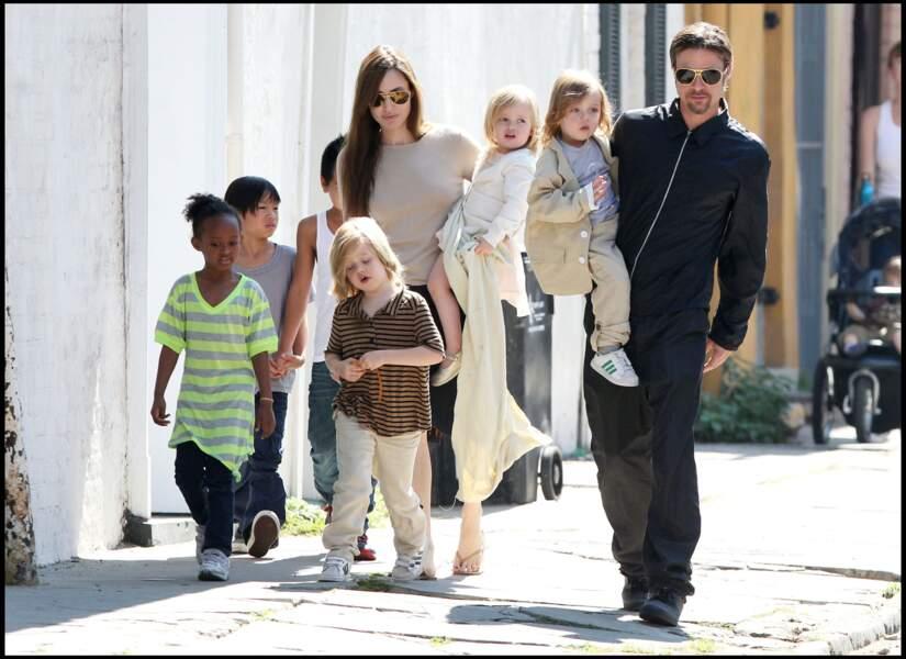 Shiloh Jolie-Pitt, en famille à la Nouvelle-Orléans en mars 2011