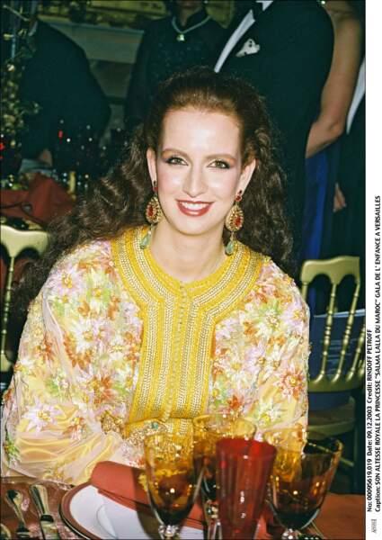 Lalla Salma du Maroc au Gala de l'Enfance à Versailles le 9 décembre 2003