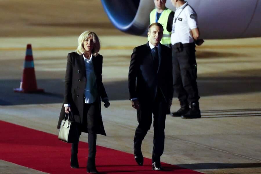 Emmanuel et Brigitte Macron arrivent en Argentine pour le sommet du G20, le 28 novembre 2018