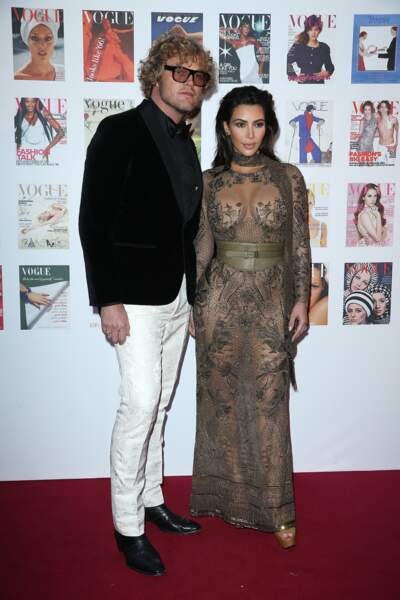 Avec Kim Kardashian
