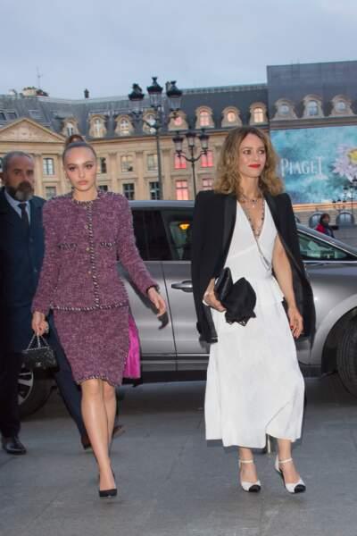 Lily-Rose Depp et Vanessa Paradis sublimes en Chanel