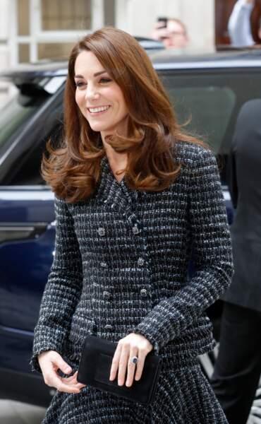 Une coloration auburn lumineuse pour Kate Middleton