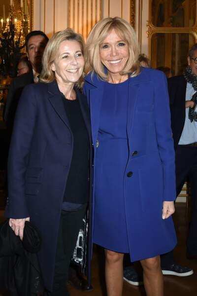 Brigitte Macron et Claire Chazal pour la remise de la légion d'honneur à Olivier Py