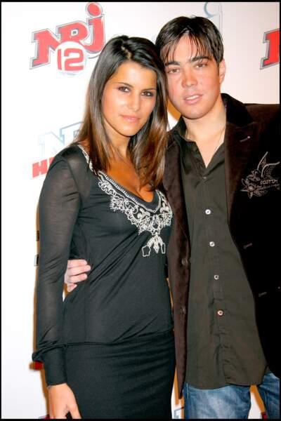 Karine Ferri et Grégory Lemarchal à la soirée des deux ans de la chaîne NRJ 12 à Paris en 2007