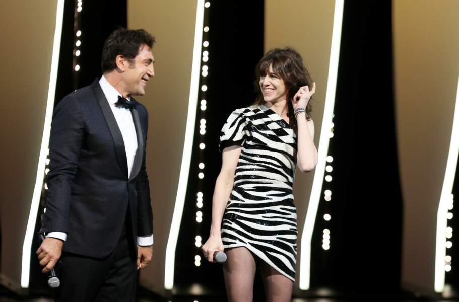 Face à Charlotte Gainsbourg qui parlait en français, Javier Bardem a discouru en espagnol