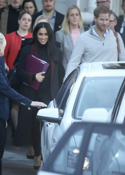 Meghan Markle, radieuse et enceinte aux côtés du prince Harry