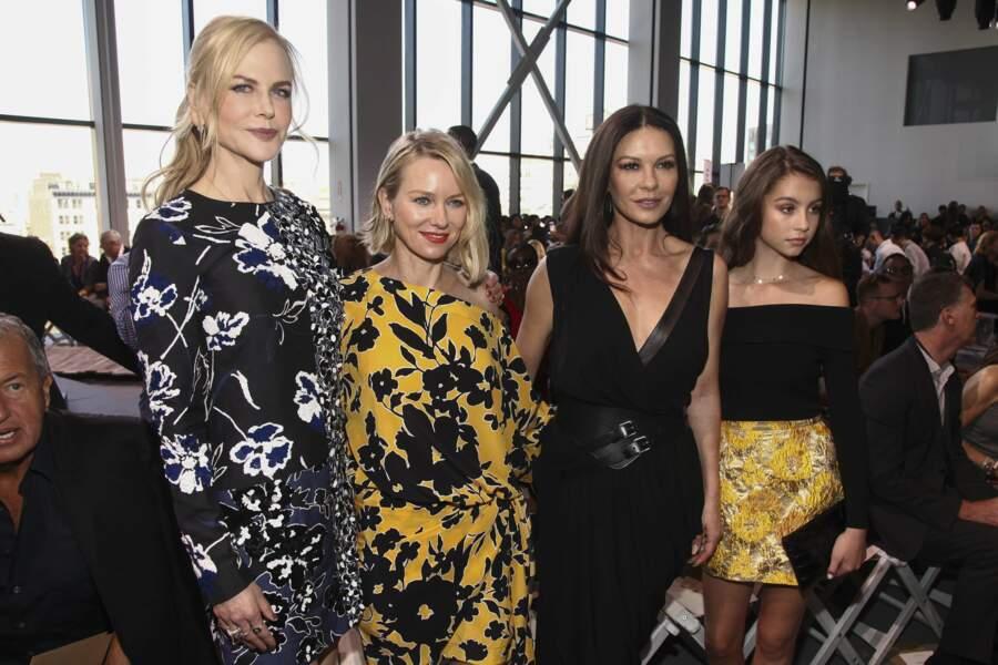 Nicole Kidman, Naomi Watts, Catherine Zeta-Jones et sa fille qui est son portrait : Carys Zeta Douglas