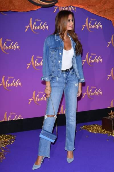 Malika Ménard était présente à l'avant-première du film Aladdin au Grand Rex à Paris, ce mercredi 8 mai