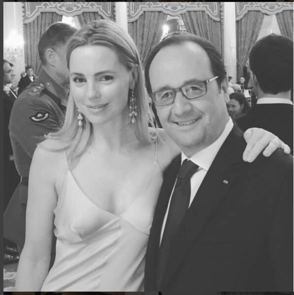 Melissa George et Francois Hollande