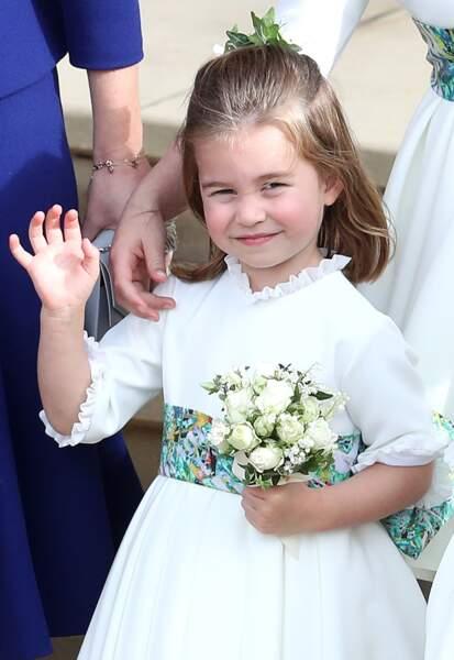 La princesse Charlotte au mariage d'Eugénie d'York, en octobre