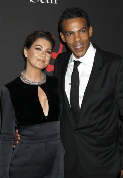 Ellen Pompeo, son mari Chris Ivery à Beverly Hills le 11 décembre 2014.