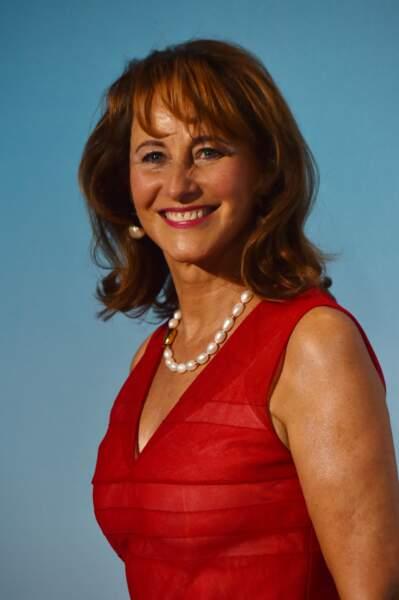 """Ségolène Royal lors de la 2ème édition du """"Monte-Carlo Gala for the Global Ocean"""" à Opéra de Monte-Carlo à Monaco."""