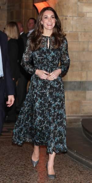 Kate Middleton visite le Musée d'Histoire Naturelle de Londres, le 22 novembre 2016