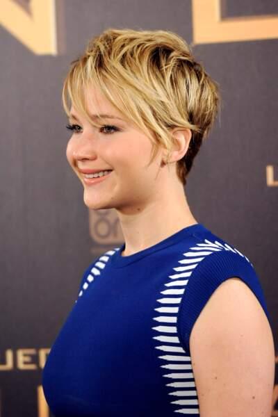 La coupe pixie dégradée de Jennifer Lawrence