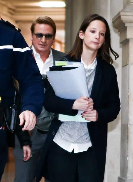 Benoit Magimel arrive au tribunal de Paris