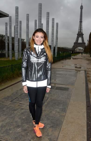 Rachel Legrain-Trapani devant la tour Eiffel le 30 mars 2016