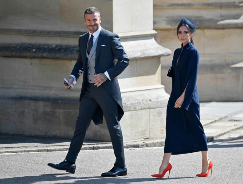 David et Victoria Beckham au mariage de Meghan Markle et du prince Harry