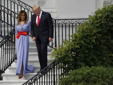 Melania Trump et Donald Trump main dans la main, ils tentent de répondre aux rumeurs de bisbille