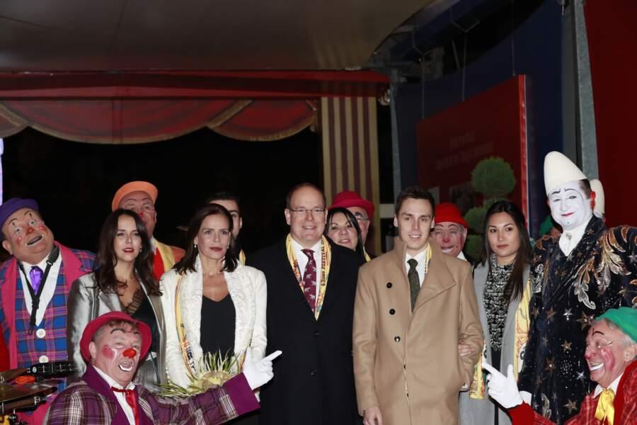 Pauline Ducruet, Stéphanie de Monaco, le prince Albert II de Monaco, Louis Ducruet et sa fiancée Marie Chevallier