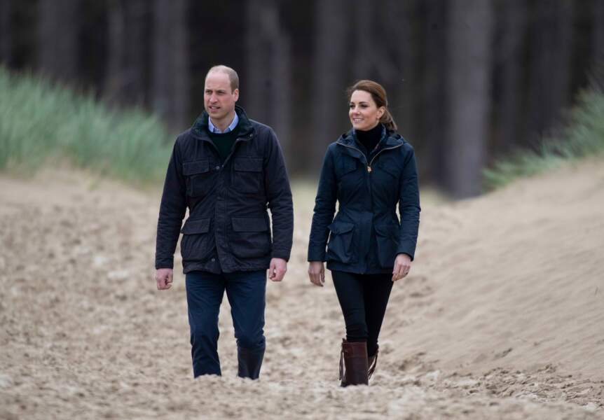 Un peu plus tôt, Kate Middleton et le prince William avaient visité la base de secouristes de Caernarfon
