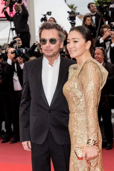 Jean-Michel Jarre et sa sublime compagne Gong Li, au Festival de Cannes, le 17 mai 2019.