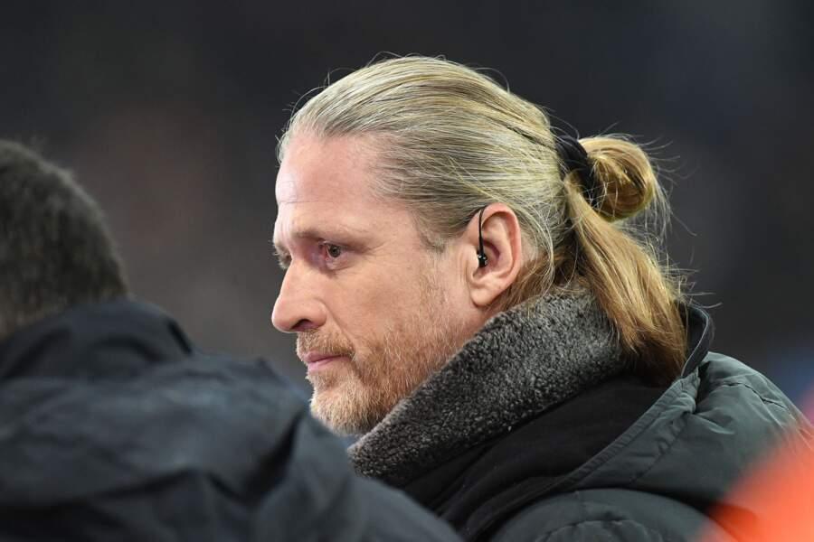 Emmanuel Petit était présent pour le match PSG-Manchester United