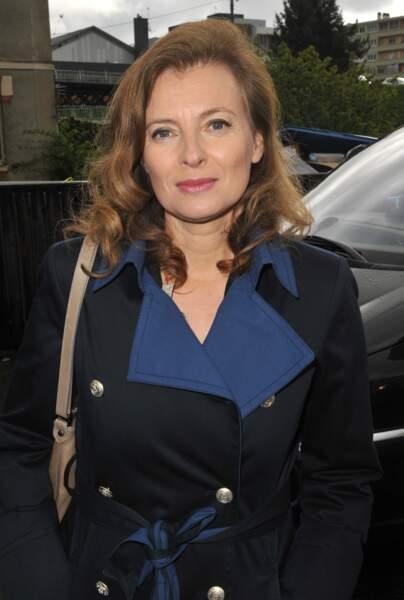 Valérie Trierweiler vote pour le premier tour des présidentielles.