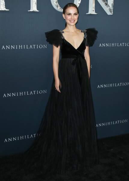 Natalie Portman toujours en noir pour soutenir le mouvement Time's Up
