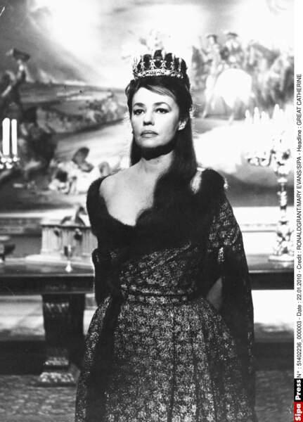 Sur le tournage de La Grande Catherine en 1968