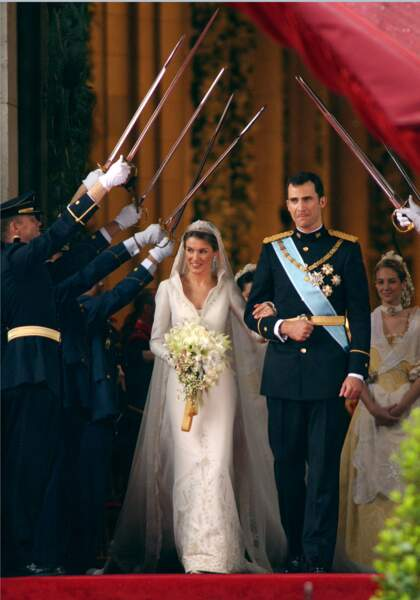 Mariage de Letizia Ortiz et du Prince Felipe d'Espagne en 2004