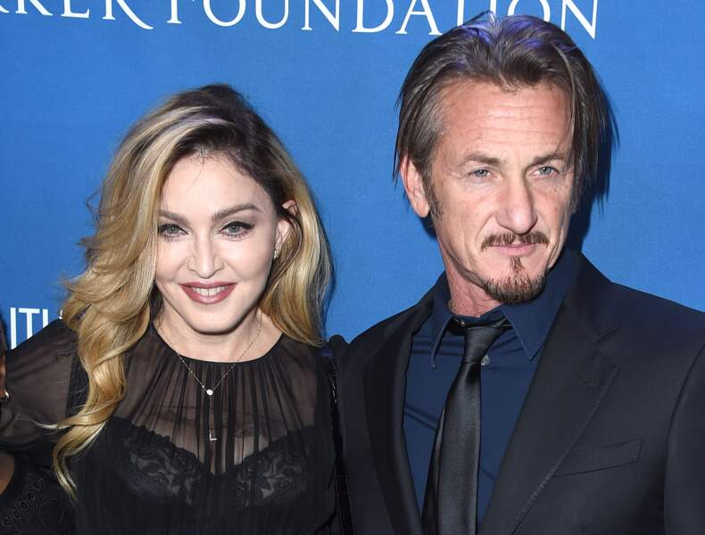 "Madonna et Sean Penn au gala ""Help Haiti Home"" le 9 janvier 2016 à Beverly Hills"