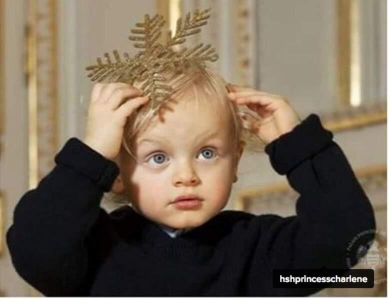 Le prince Jacques fasciné par les décos de Noël
