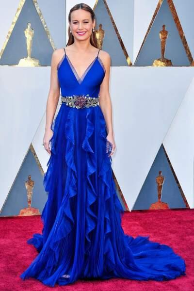 Brie Larson, en Gucci, en 2016