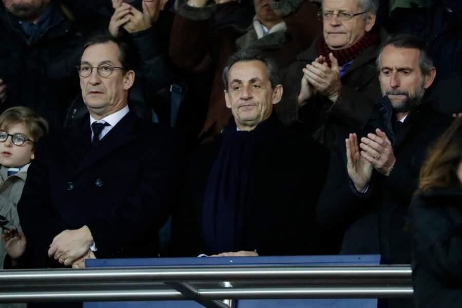 L'ancien président de la République était dans les tribunes.
