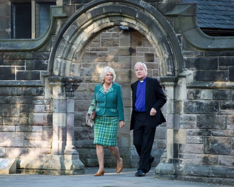 Motif écossais pour assister à un concerto à la cathédrale St Mary d'Edimbourg, le 22 septembre 2018.