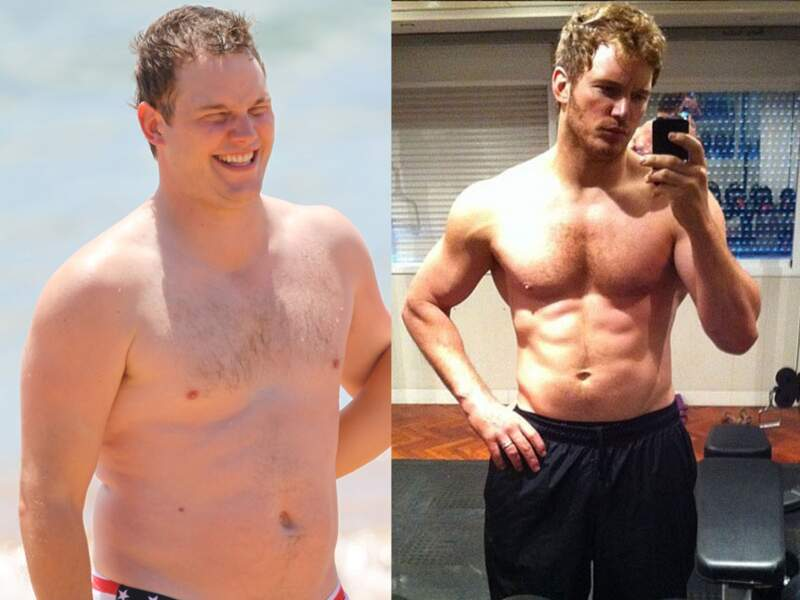 Chris Pratt, avant/après