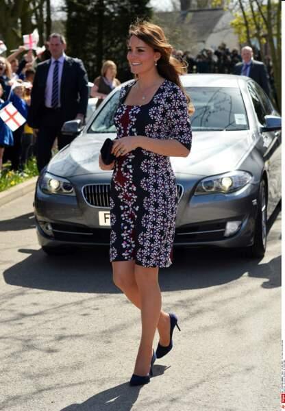 Kate Middleton lors d'une visite de la Willows Primary School à Manchester, le 23 avril 2013