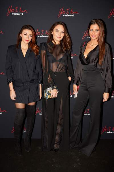 Rachel Trapani, Valérie Bègue et Malika Ménard, sexy en noir