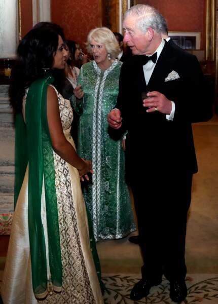 Le prince Charles et Camilla Parker Bowles au palais de Buckingham à Londres, le 5 février 2019