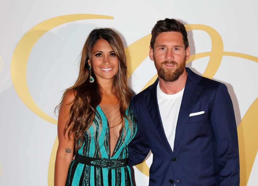 Lionel Messi et sa femme Antonella Roccuzzo, parents pour la 3e fois d'un petit garçon né le 10 mars 2018