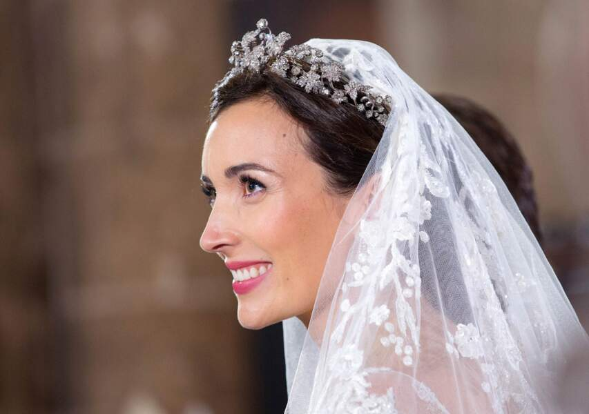 Beauté fraïche et bouche rosée pour Claire Lademacher, mariée à S.A.R le Prince Felix de Luxembo