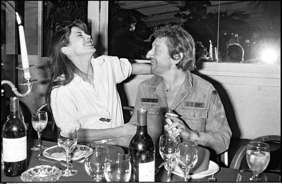 Jane Birkin et Serge Gainsbourg au Palace en 1979