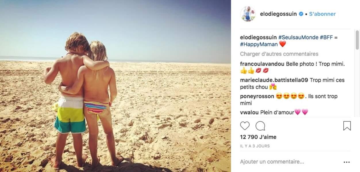Elodie Gossuin et sa famille ont posé bagages dans un camping