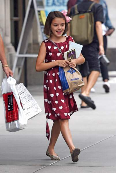 Suri Cruise (la fille de Tom Cruise et Katie Holmes) à New York le 18 août 2016.