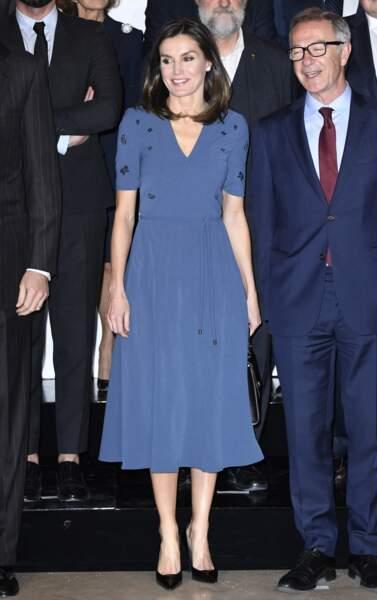La reine Letizia d'Espagne était très élégante à Madrid