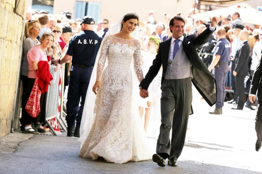 Felix de Luxembourg et Claire Lademacher (en robe Elie Saab) s'unissent dans le Var en 2013