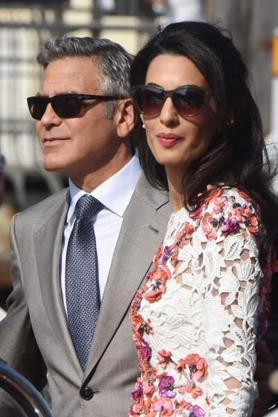 George Clooney très élégant aussi pour son mariage civil avec Amal Alamuddin le 27 septembre 2014.