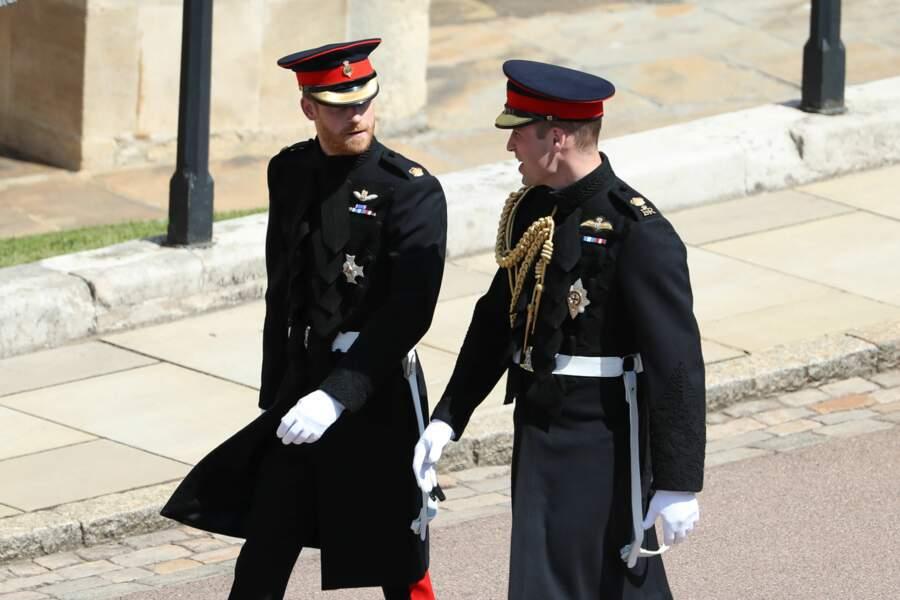 Les princes William et Harry complices