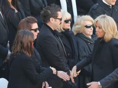 Brigitte Macron, au côté de son mari pour soutenir la famille de Charles Aznavour