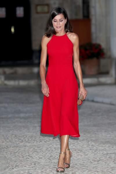 Letizia d'Espagne a été aperçue à Palma de Majorque ce mercredi 7 août